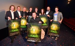 Ekipa filma Bergmandlc na premieri v Celovcu.