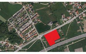 Slika 01: Območje nameravane spremembe namembnosti iz najboljših kmetiških zemljišč v namembnost zemljišč za industrijsko rabo (Industrijska cona Jordanov kot)
