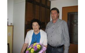 Ivanka Torkar z županom Francem Kramarjem. Foto: Pavlina Zorman