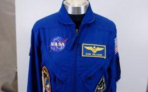 Astronavtski kombinezon Sunite L. Williams, ki ga je nosila kot poveljnica dveh odprav »Expedition 32« in »Expedition 33« na Mednarodni vesoljski postaji leta 2012. F: Nebojša Tejić/STA
