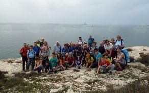 Gasilski posnetek planincev PD Blagajana (nekateri manjkajo) na najjužnejšem delu Istre. Foto: Jerca Škrlj
