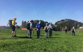 Med zelenimi travniki na vrhu se je skrival regrat, na višini okrog 1000 metrov upravičeno imenovan bio. Foto: Jerca Škrlj