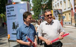 Direktor družbe TAM-TAM Tomaž Drozg in ljubljanski župan Zoran Jankovič