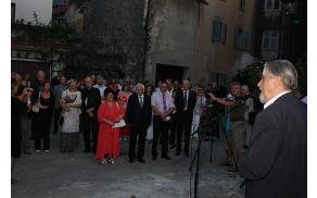 Simpatičen uvodni pozdrav je pripadel pesniku Cirilu Zlobcu. Foto: Toni Dugorepec