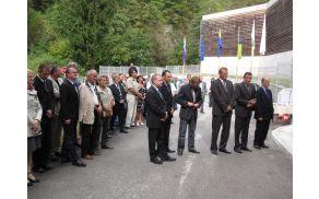 Pred otvoritvijo vodarne so spregovorili župani vseh treh občin
