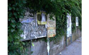 Plakatiranje v občini bo urejal nov Odlok. Foto: Lea ŠIrok