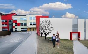 Projekt osnovne šole s prizidkom telovadnice.