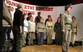 Prvi del koncerta - miting je vodila Andreja Stopar