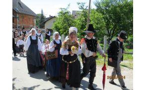 Žabarska svatba v Sebenjah (foto: FS Karavanke)