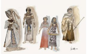 Kostumske skice - kostumograf Luka Dall'Alpi