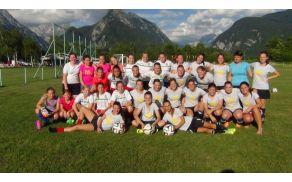 Ajdovske nogometašice na pripravah v Bovcu