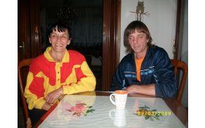 Karmen in Darjo Vogrič, brat in sestra iz Plav. Foto: Ivan Križnič