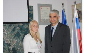 Ana Klemen na obisku pri županu
