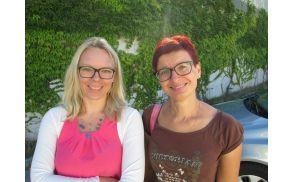 Direktorica Centra za socialno delo Radovljica, Urška Repar Justin, in vodja poletnega tabora, Doris Globočnik