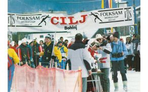 Prizor iz startno-ciljne arene tekmovanja SP FIS v smučarskih tekih 1986. Foto: Arhiv Stanislava Ažmana