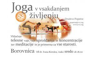 Joga v vsakdanjem življenju v Borovnici: pomladanski semester vadbe na OŠ dr. Ivan Korošec
