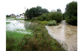 Leta 2010 je pod regionalno cesto nastal čep, ki je zadrževal odtekanje poplavnih voda.