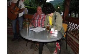 Borut Jurca pripoveduje o dogajanju ob Soči Foto: osebni arhiv
