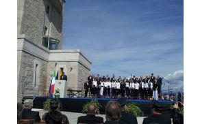 zbor s slavnostnim govornikom, predsednikom republike Borutom Pahorjem