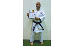 Danijel Leban z diplomo osvojenega 5. mesta na SP
