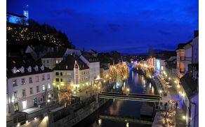Tudi letos bo Ljubljana bogato osvetljena.Foto Dunja Wedam, Turizem Ljubljana.