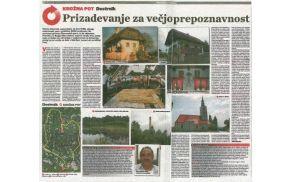 Članek v Slovenskih novicah