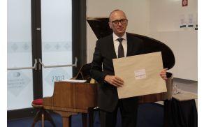 Direktor DCB Marko Rupret na slavnostni podelitvi certifikatov. Foto: Miha Mramor