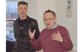Bojan Dobovšek (levo) in predsednik lokalnega odbora SMC Miroslav Ribič.