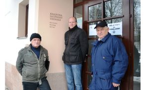 Predsedniška trojka: Peter Sečnik, Jure Jakopič in Karol Jakopič.
