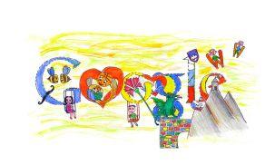 Logotip za Google oziroma Doodle 4 Google Neže Jeklin.