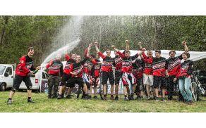 Zadovoljni člani ŠKTD Avče po uspešnem desetem Downhillu. Foto: Mitja Madon