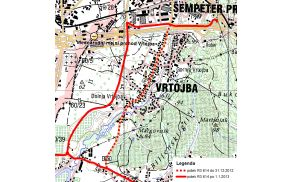 Z rdečo črtkano črto je označeno stanje do 31. 12. 2012, z rdečo polno črto pa stanje od 1. 1. 2013 dalje.