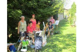 Drežnica vabi vsako leto slikarje amaterje v naravo. Foto: LS Deskle