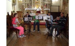 vaja pihalnega orkestra - trobilni kvintet