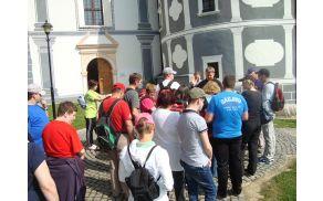Pred odhodom na ogled cerkve in samostanske lekarne.