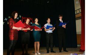 Vokalna skupina Magari iz Trebelnega je bila v gosteh v Šentlovrencu.