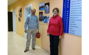 Milica Tomšič in Lojze Burja po končanem delu, manjka le Irena Gorenc