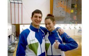 Člana SD Marok iz Sevnice Blaž Kunšek in Anuša Kovačič sta tudi letos v slovenski strelski reprezentanci.