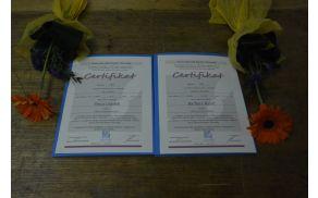 Certifikata za kakovost, prejemnici Barbara Rabič in Binca Lomšek