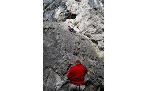 Športno plezanje v Burjakovi steni (foto: Katarina Radovič)
