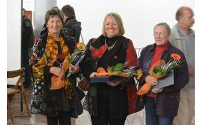 Leonida Goropevšek z zlato paleto, Binca Lomšek s Srebrno paleto in Irena Novak