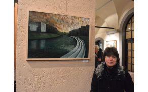 Irena Gorenc - slika  akril TRNOVO