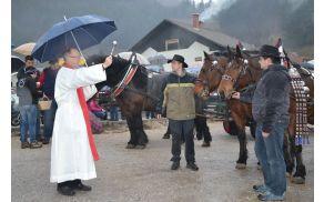 Blagoslov konj je podelil horjulski župnik Janez Smrekar.