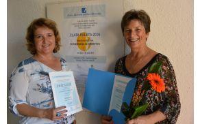 Helena Testen in Binca Lomšek ponosni prejemnici priznanj