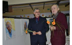Ravnatelj Primož Garafol (levo) in slikar Krištof Zupet sta po koncu odprtja razstave izmenjala nekaj besed.