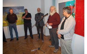 Umetnike je predstavil član društva Franc Golob