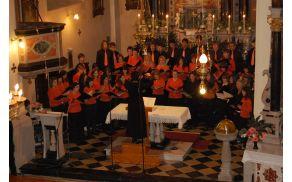 Zbor med koncertom v domači cerkvi sv. Vida  leta 2010