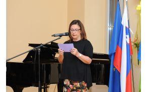Slavnostna govornica Maja Jerman Bratec. (Foto: Foto atelje Pavšič Zavadlav)