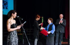 Adela Pečovnik ob prejemu priznanja