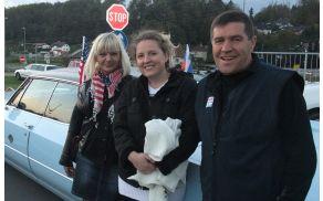 Marjan Kveder je razveselil občane z ameriškimi avtomobili in glasbo